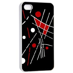 Artistic abstraction Apple iPhone 4/4s Seamless Case (White)