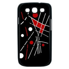 Artistic abstraction Samsung Galaxy S III Case (Black)