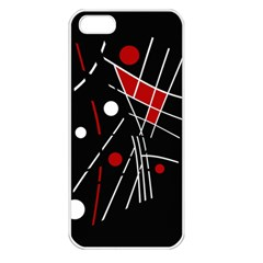 Artistic abstraction Apple iPhone 5 Seamless Case (White)