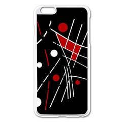 Artistic abstraction Apple iPhone 6 Plus/6S Plus Enamel White Case
