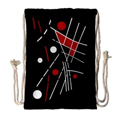 Artistic abstraction Drawstring Bag (Large)