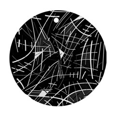 Gray abstraction Ornament (Round)