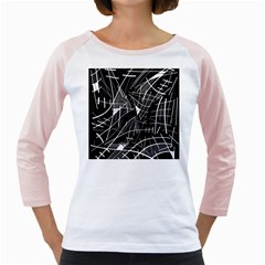 Gray abstraction Girly Raglans
