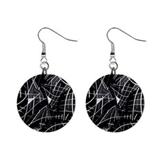 Gray abstraction Mini Button Earrings