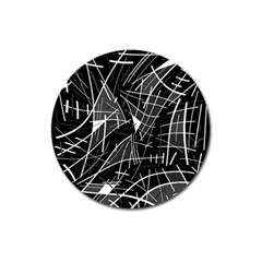 Gray abstraction Magnet 3  (Round)