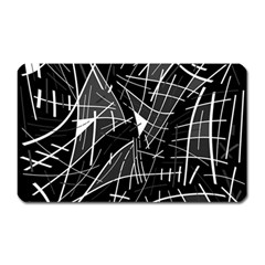 Gray abstraction Magnet (Rectangular)
