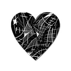 Gray abstraction Heart Magnet