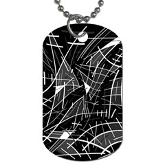 Gray abstraction Dog Tag (One Side)