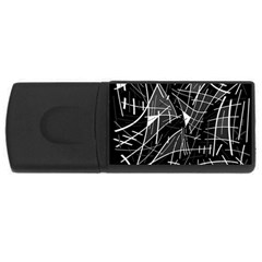 Gray abstraction USB Flash Drive Rectangular (1 GB)