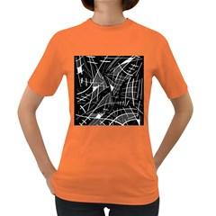 Gray abstraction Women s Dark T-Shirt