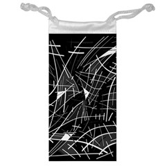 Gray abstraction Jewelry Bags