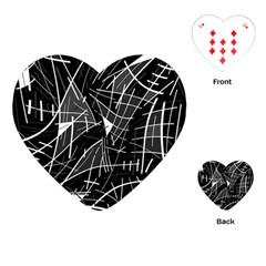 Gray abstraction Playing Cards (Heart)