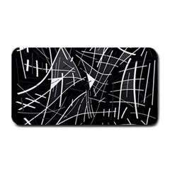 Gray abstraction Medium Bar Mats