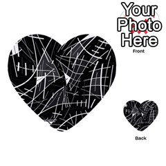 Gray abstraction Multi-purpose Cards (Heart)