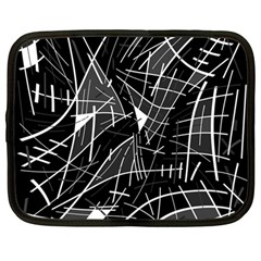 Gray Abstraction Netbook Case (large)