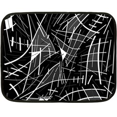 Gray abstraction Double Sided Fleece Blanket (Mini)