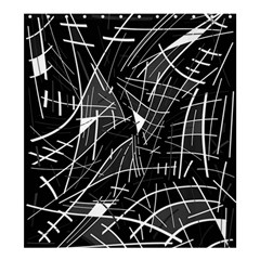 Gray abstraction Shower Curtain 66  x 72  (Large)