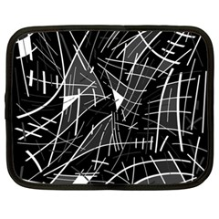 Gray abstraction Netbook Case (XL)