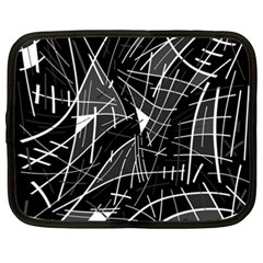 Gray abstraction Netbook Case (XXL)