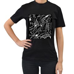 Gray abstraction Women s T-Shirt (Black)