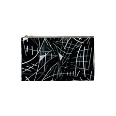 Gray abstraction Cosmetic Bag (Small)