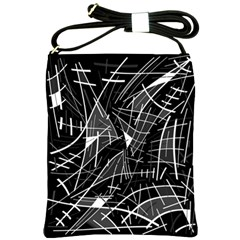 Gray abstraction Shoulder Sling Bags