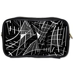 Gray abstraction Toiletries Bags 2-Side
