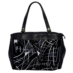 Gray abstraction Office Handbags