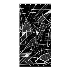 Gray abstraction Shower Curtain 36  x 72  (Stall)