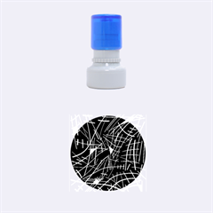 Gray abstraction Rubber Round Stamps (Small)