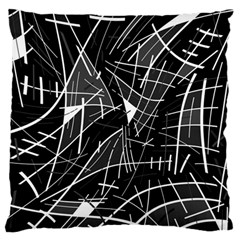 Gray abstraction Large Cushion Case (Two Sides)