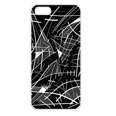 Gray abstraction Apple iPhone 5 Seamless Case (White)