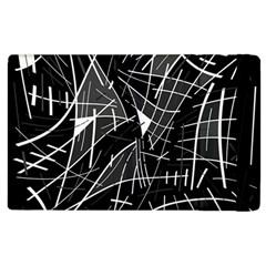 Gray abstraction Apple iPad 2 Flip Case