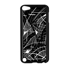 Gray abstraction Apple iPod Touch 5 Case (Black)