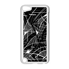 Gray abstraction Apple iPod Touch 5 Case (White)