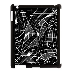Gray abstraction Apple iPad 3/4 Case (Black)