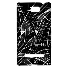 Gray abstraction HTC 8S Hardshell Case