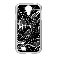 Gray abstraction Samsung GALAXY S4 I9500/ I9505 Case (White)