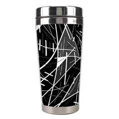 Gray abstraction Stainless Steel Travel Tumblers