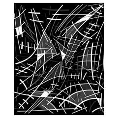 Gray abstraction Drawstring Bag (Small)