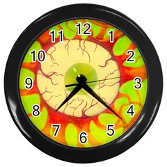 Scleral Hemorrhage Wall Clocks (Black)