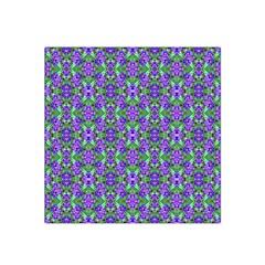 Pretty Purple Flowers Pattern Satin Bandana Scarf