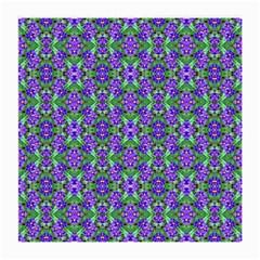 Pretty Purple Flowers Pattern Medium Glasses Cloth