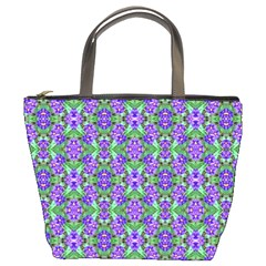 Pretty Purple Flowers Pattern Bucket Bags