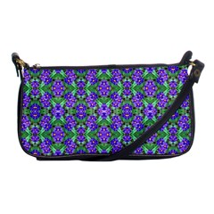 Pretty Purple Flowers Pattern Shoulder Clutch Bags