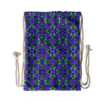 Pretty Purple Flowers Pattern Drawstring Bag (Small) Front