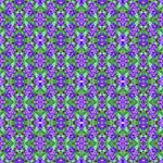Pretty Purple Flowers Pattern PARTY 3D Greeting Card (8x4)  Inside