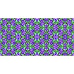 Pretty Purple Flowers Pattern Merry Xmas 3D Greeting Card (8x4)  Front