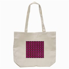 Pretty Pink Flower Pattern Tote Bag (Cream)