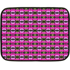 Pretty Pink Flower Pattern Double Sided Fleece Blanket (Mini)